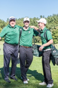 Pictured left to right:  Coach Dennis Been, Cam Roberts and Dean Anastas                                   Adrian Flatgard