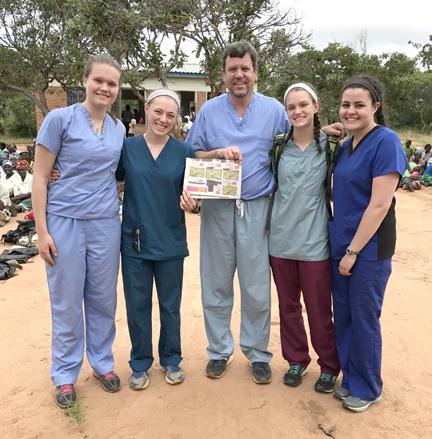 Stow residents in Malawi (l-r): Helen Crosby, Meg Haberle, Don Hangen, Halle Hangen, and Melissa Buck.