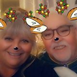 Happy Retired Couple with Snapchat Filter
