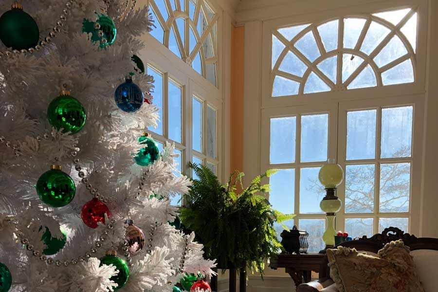 decorated christmas tree at the inn at forest oaks virginia