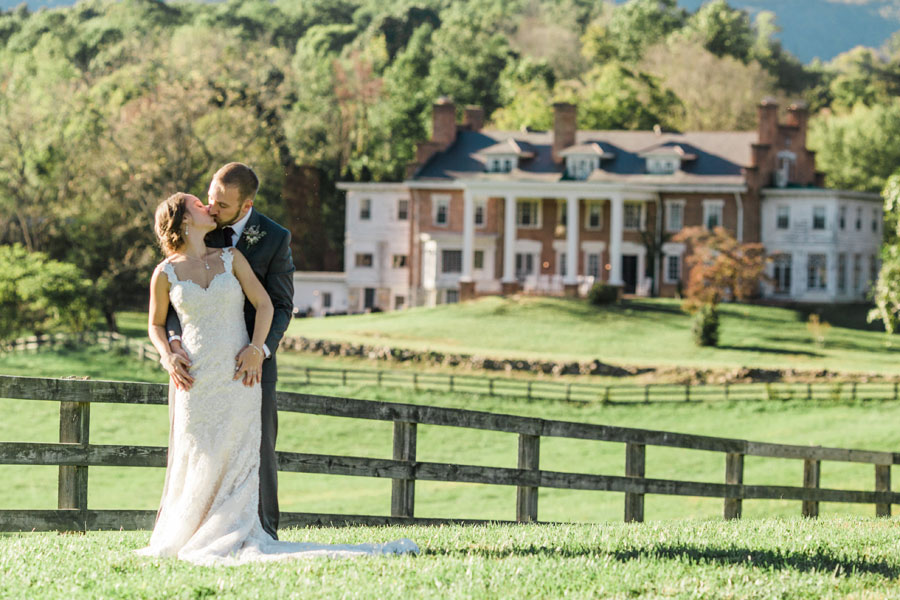 virginia mountains wedding on the grounds of the inn at forest oaks