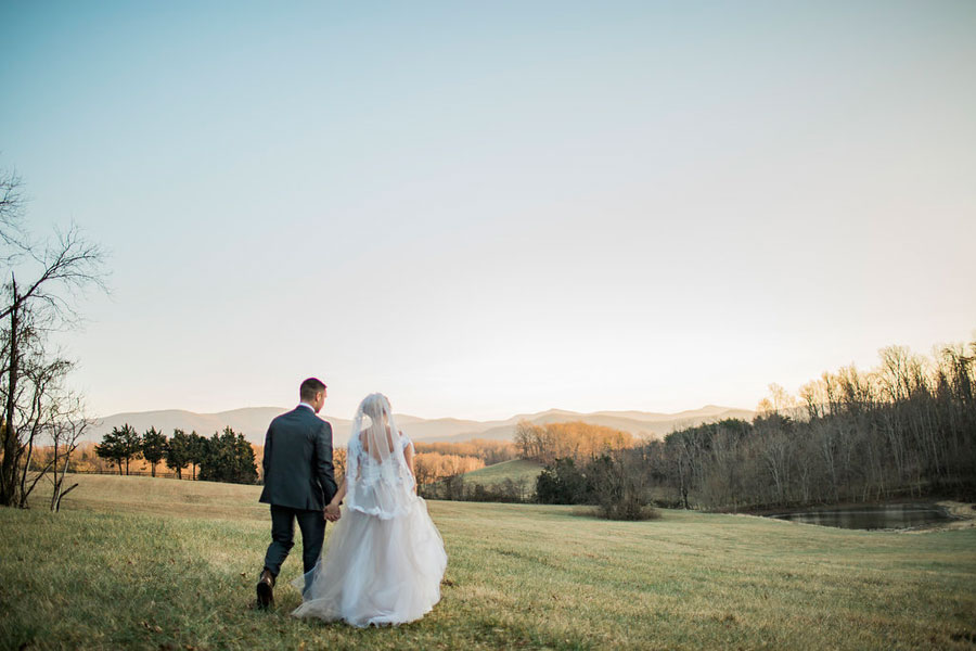 virginia mountains wedding couple at the inn at forest oaks
