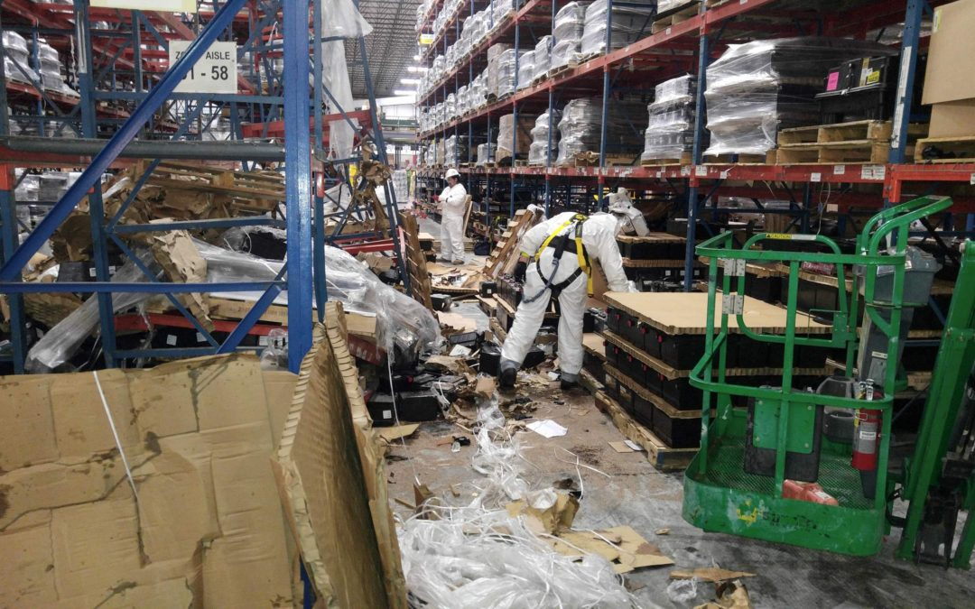 Large spill of car batteries in Augusta, GA