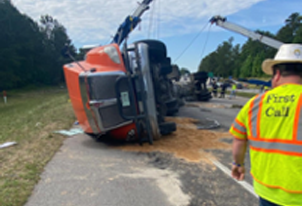 June Project Spotlight – Overturned tank truck