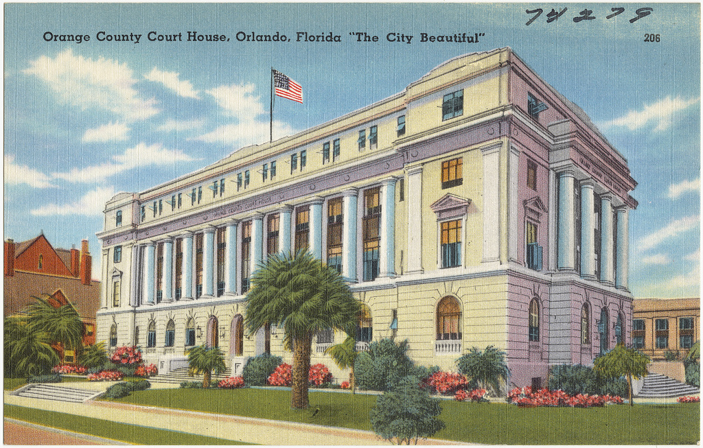 Illustration of the old Orange County Courthouse