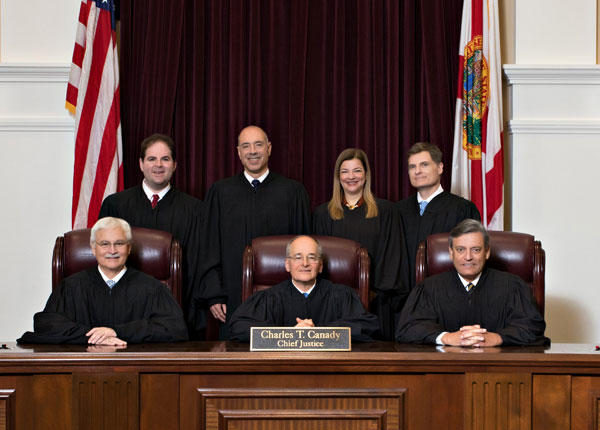 Official Photograph of the Current Florida Supreme Court Justices