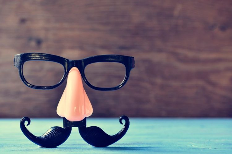 Image of false mustache, eyeglasses, and nose.