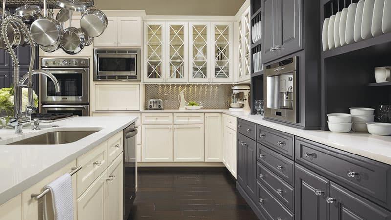 custom color raised panel kitchen cabinets in arizona