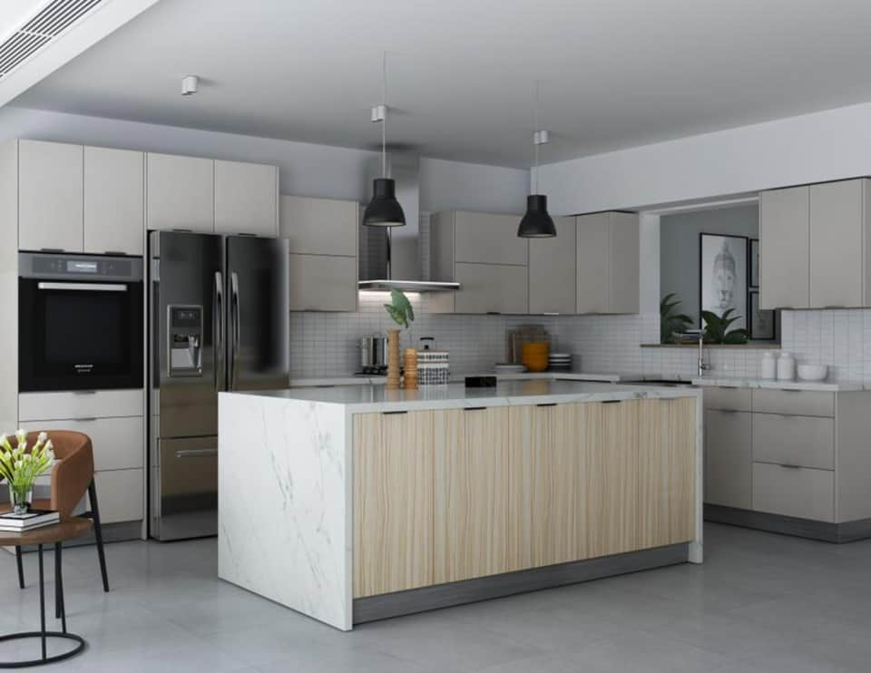 european frameless kitchen cabinets near me