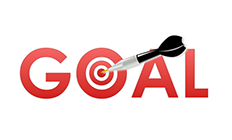 Image of goals being hit with a dart.
