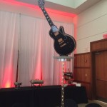 Rock and Roll Themed Bar Mitzvah - Base made by Events by Amy