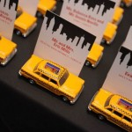NYC Themed Bar Mitzvah- Taxi Cab Place Cards made by Events by Amy