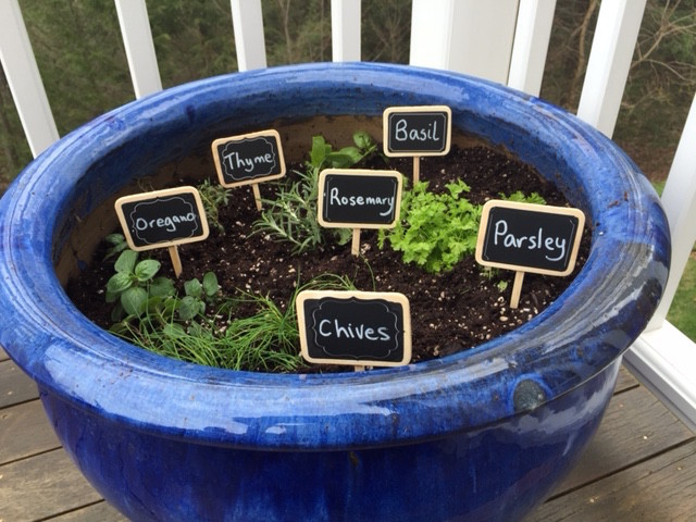 Deck Herb Garden