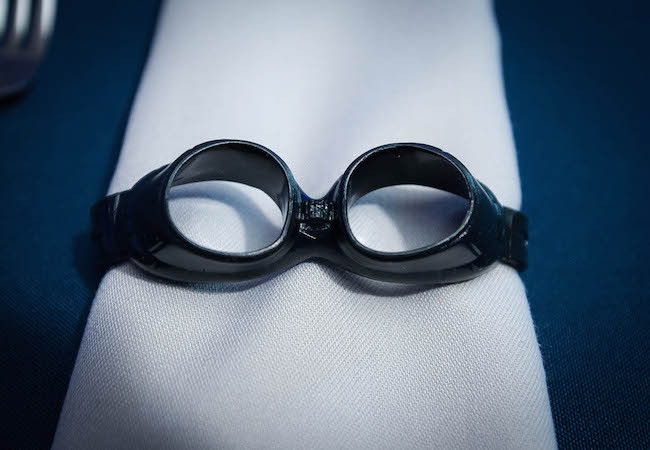 goggle napkin ring - Photo by Get the Picture Productions