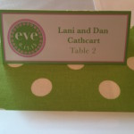 polka dot theme place card