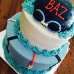 Swim Themed Cake by Julie Armstrong - LizMar Sweets