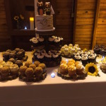 cupcake station for rustic wedding