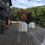 deck for rustic wedding