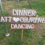 Sign for Wedding Reception