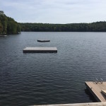 View of the lake for rustic wedding