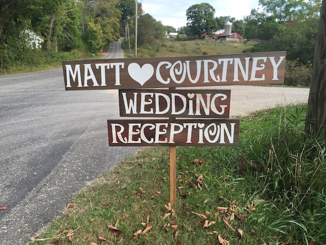 Direction Signs of the Rustic Wedding