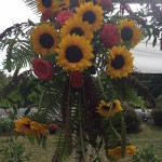 Sunflowers made by Events by my for Rustic Wedding