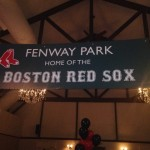 Fenway Park Sign for Red Sox Theme Bar Mitzvah Party