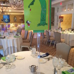 Giant Book Centerpiece of The Giving Tree for Book Themed Bat Mitzvah Party