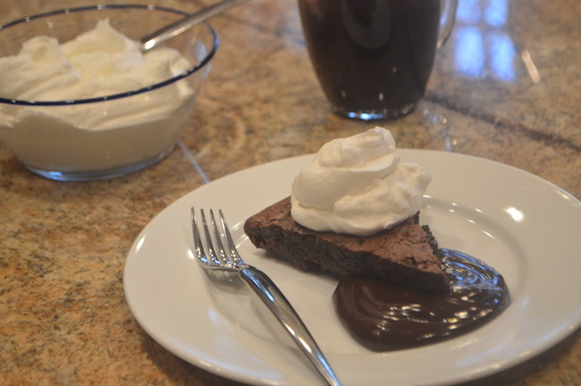 Hot Brownie with Fudge and Whipped Cream