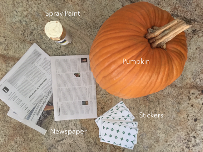 Ingredients for Glamor Pumpkins