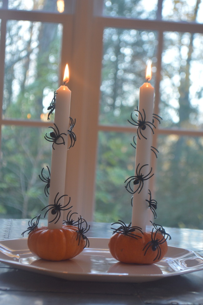 Spider Candles for Halloween