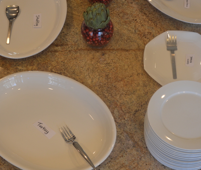serving plates for buffet