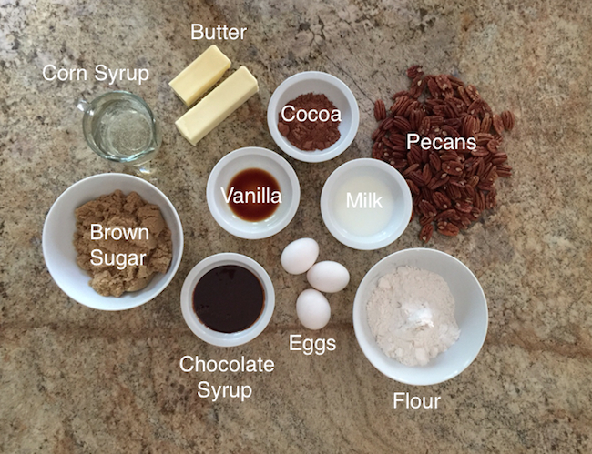 Chocolate Pecan Tart Ingredients