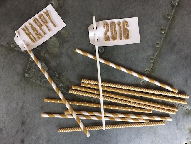 Decorative Straws for New Year's Eve Stir Sticks