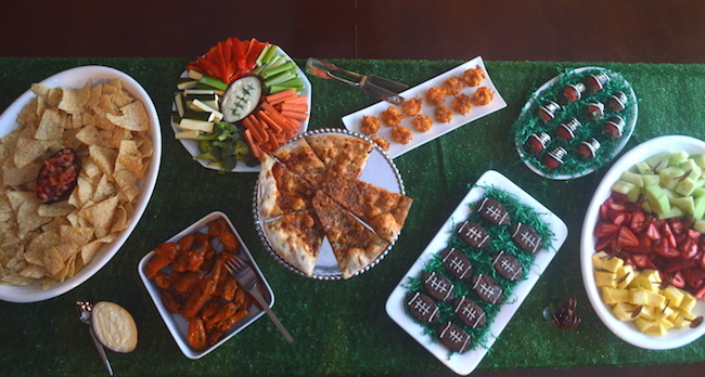 Food Table for Super Bowl party