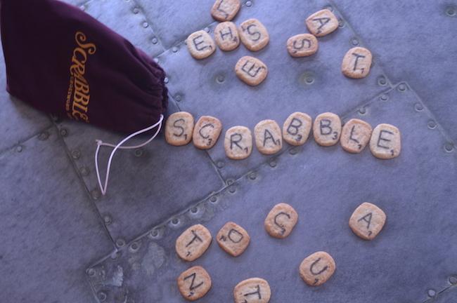 Game Night Scrabble Cookies