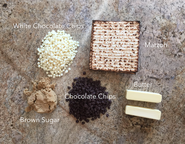 Ingredients for matzoh candy