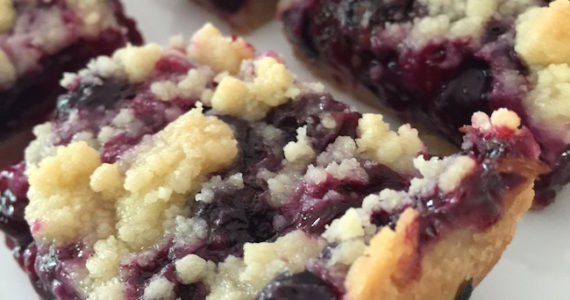 Blueberry Pie Crumble Bars