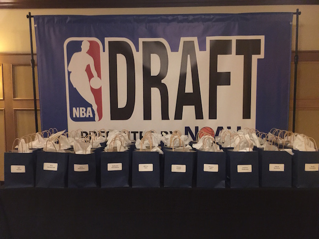 NBA Draft Themed Bar Mitzvah party