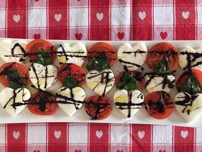 Valentine's Day Caprese Salad