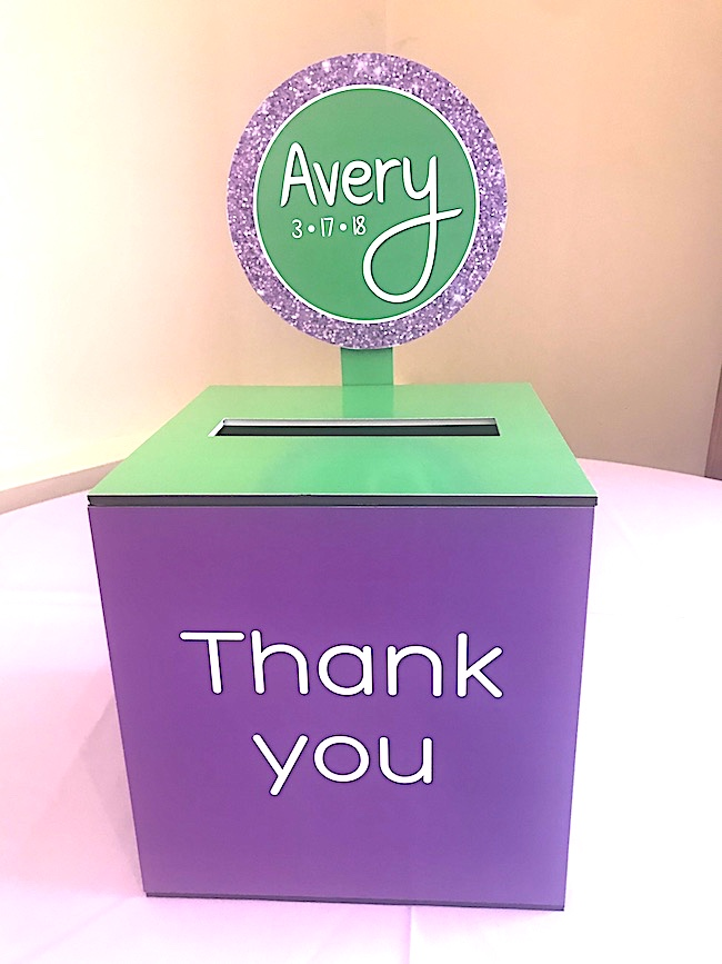 Purple and Green Color Scheme Bat Mitzvah Party