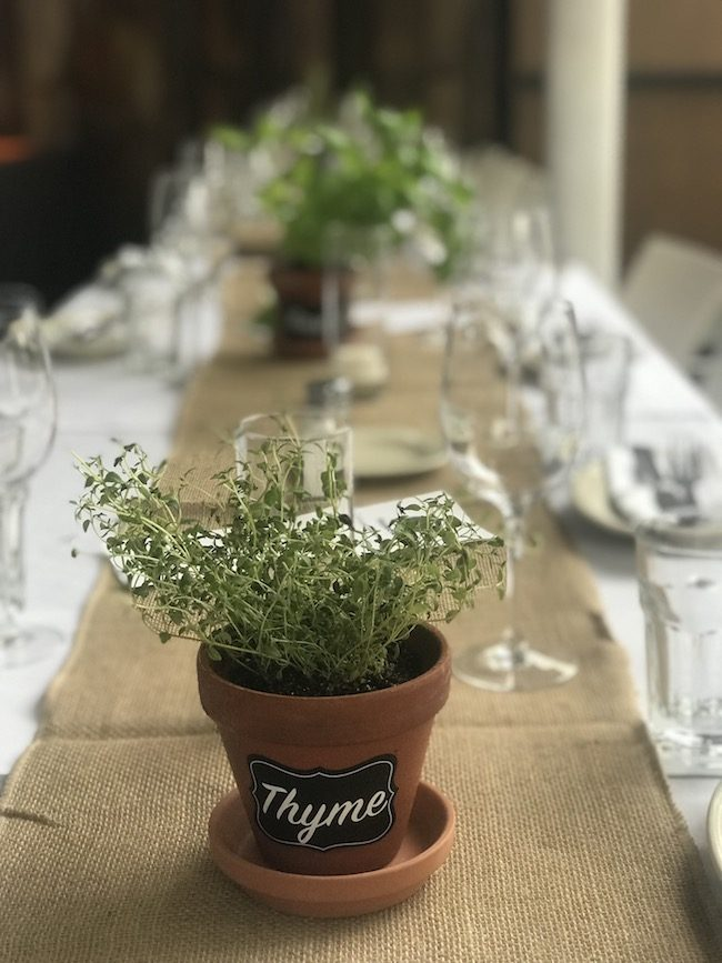 Garden Themed Pre-Wedding Dinner