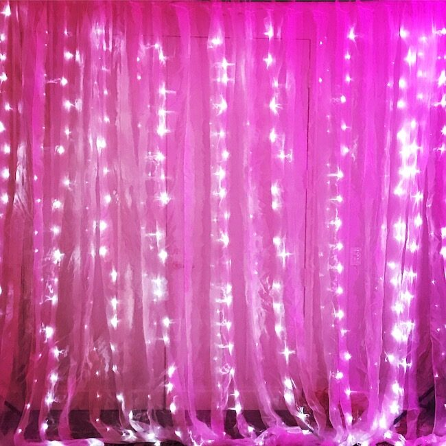 Light up photo backdrop
