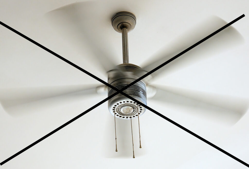 ceiling fans can cause dry eye symptoms to worsen