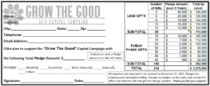 Pledge Card - for Sunday, November 10
