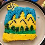 a happy mountain scene