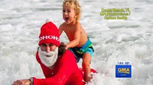 Good Morning America Surfing Santa