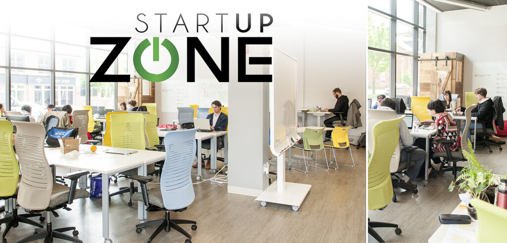 people working in Startup Zone working space