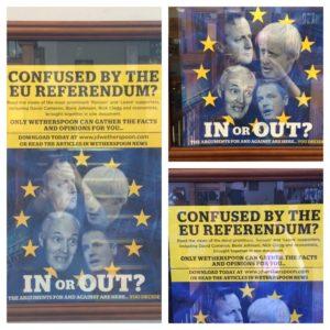 Brexit ad at Robert the Bruce Pub, Scotladn