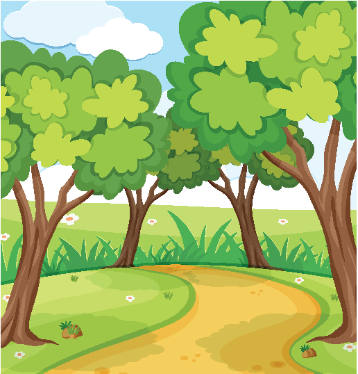 background image of trees and path
